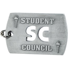 Cut Out Dog Tag - Student Council