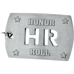 Cut Out Dog Tag - Honor Roll