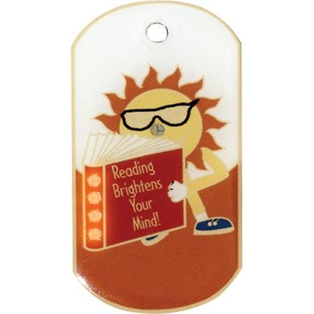 Blinking Dog Tag - Reading