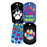 Dog Tag Set - Paw