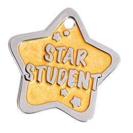 Shaped Dog Tag - Star Student