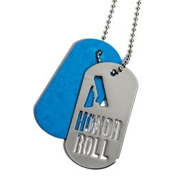 Slider Dog Tag - A Honor Roll