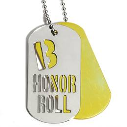 Slider Dog Tag - B Honor Roll