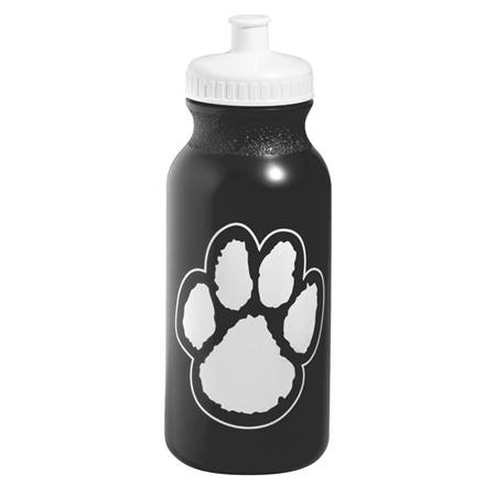 Paw Water Bottle - Black/White
