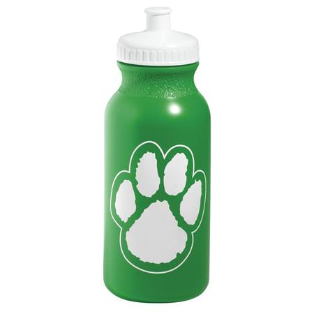 Paw Water Bottle - Green/White