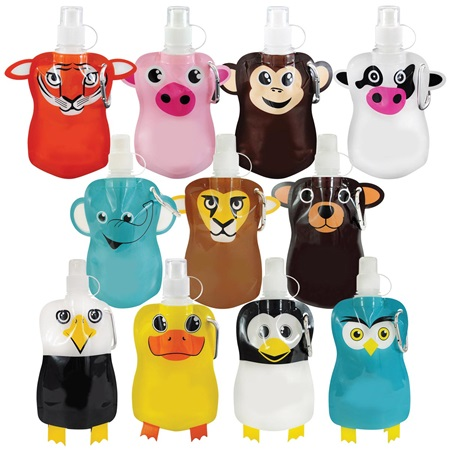 12 oz. Flat Animal Bottle