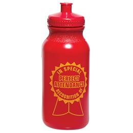 Award Water Bottle - Perfect Attendance Ribbon