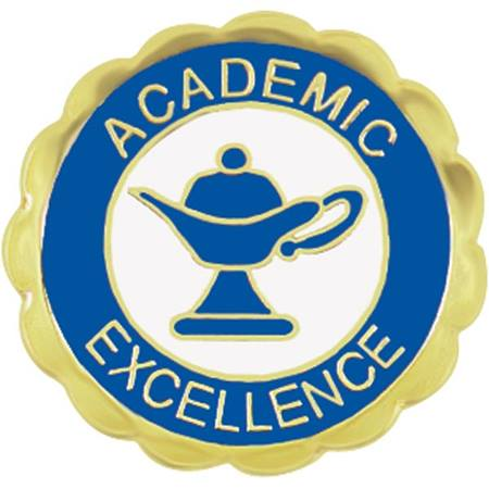 Academic Excellence Award Pin - Lamp of Learning