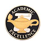 Academic Excellence Award Pin - Lamp