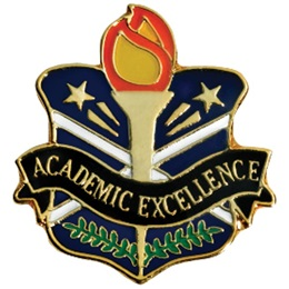 Academic Excellence Award Pin - Torch