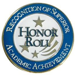 Honor Roll Award Pin - Academic Achievement