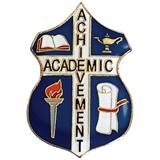 Academic Achievement Award Pin - Shield