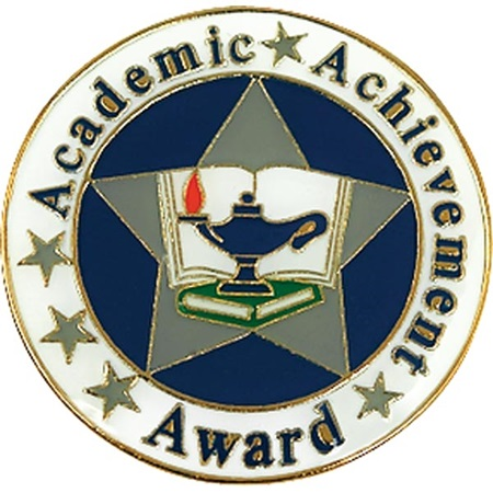 Academic Achievement Award Pin - Star With Lamp