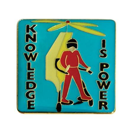 Knowledge Is Power Award Pin