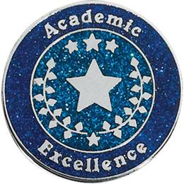 Academic Excellence Award Pin - Glitter