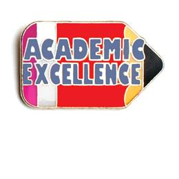 Academic Excellence Award Pin - Pencil