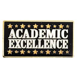 Academic Excellence Award Pin- Gold Stars