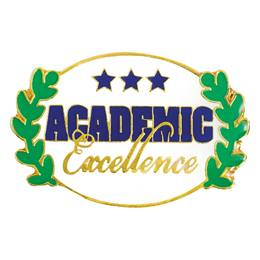 Academic Excellence Award Pin - Oval