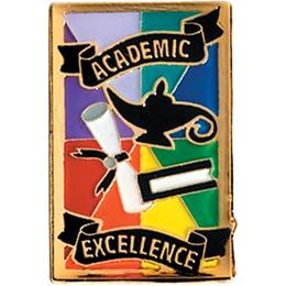 Academic Excellence Award Pin - Rainbow