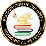 Academic Achievement Award Pin - Superior Recognition