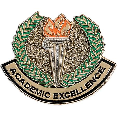 Academic Excellence Award Pin - Torch and Laurel