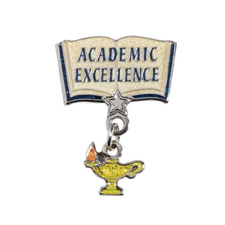 Academic Excellence Award Pin - Hanging Glitter Lamp