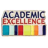 Academic Excellence Award Pin - Colored Stripes