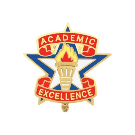 Academic Excellence Award Pin - Torch on Star | Anderson's