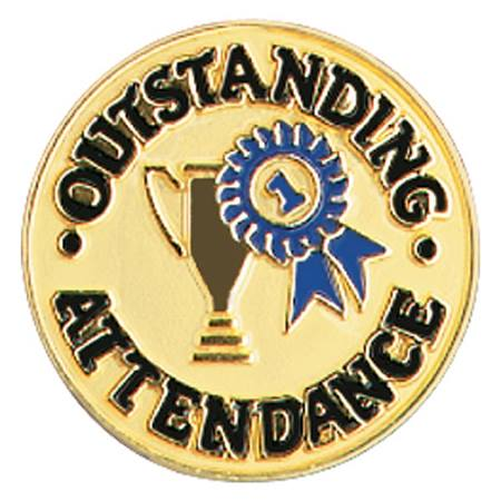 Attendance Award Pin - Trophy and Ribbon