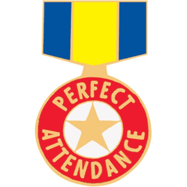 Attendance Award Pin - Perfect Attendance Medallion | Anderson's