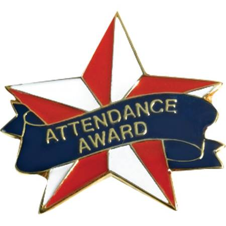 Attendance Award Pin - Star