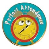 Attendance Award Pin - Alarm Clock