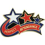 Attendance Award Pin - Perfect Attendance Stars