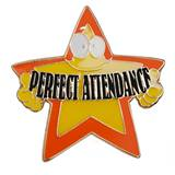 Attendance Award Pin - Perfect Attendance Crazy Star