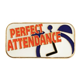 Attendance Award Pin - Perfect Attendance Clock
