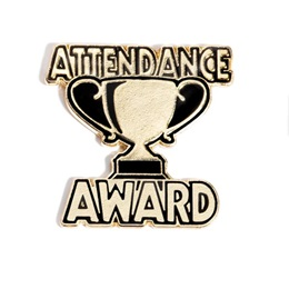 Attendance Award Pin - Trophy Cup