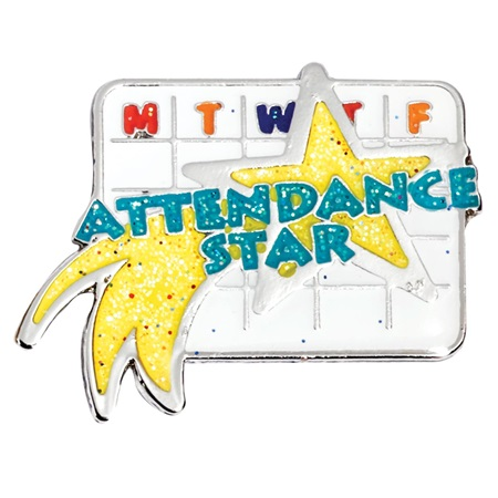 Attendance Star Award Pin