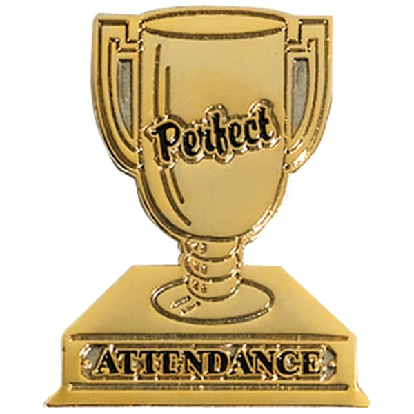 Attendance Award Pin - Perfect Attendance Trophy | Anderson's