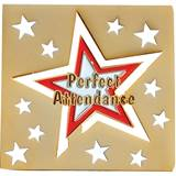 Attendance lapel pins elementary anderson 39 s for How to cut a perfect star