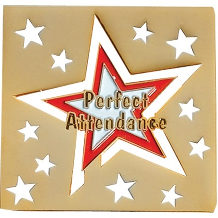 Attendance Award Pin - Cut Out Stars