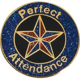 Attendance Award Pin -Glitter Star