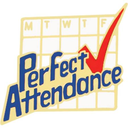 Attendance Award Pin - Perfect Attendance Calendar