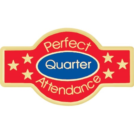 Attendance Award Pin - Quarter