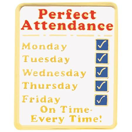 Attendance Award Pin - Perfect Attendance Days of the Week