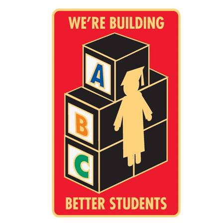Appreciation Award Pin - We're Building Better Students