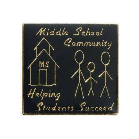 Middle School Community Award Pin – Helping Students Succeed