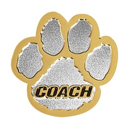 Coach Award Pin - Gold/Silver Paw