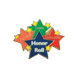 Honor Roll Award Pin - Achieve, Goals, Dedication