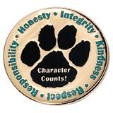 Character Award Pin - Character Counts Paw