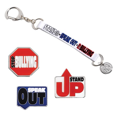 Character Award Strap and Pin Set - Stop Bullying